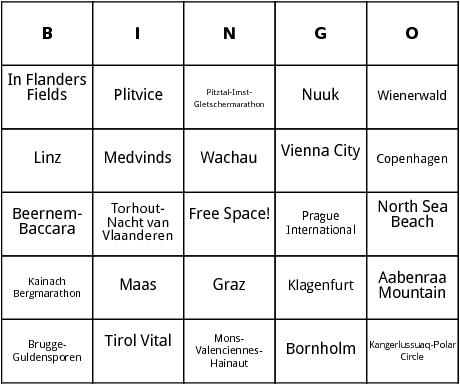european marathons bingo