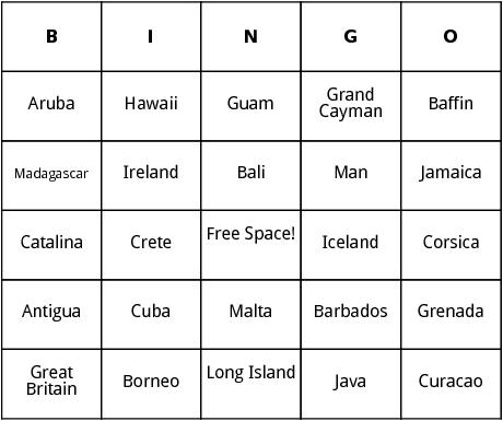 island bingo