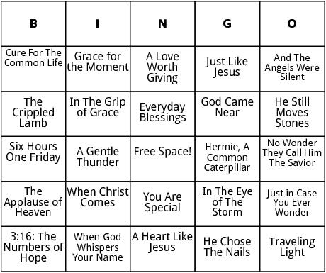 max lucado literature  bingo