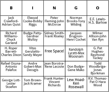 mens doubles wimbledon bingo