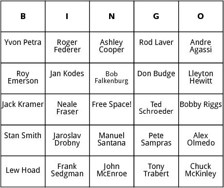 mens wimbledon 2 bingo