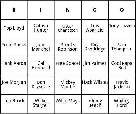 national baseball hall of fame 3 bingo bingo