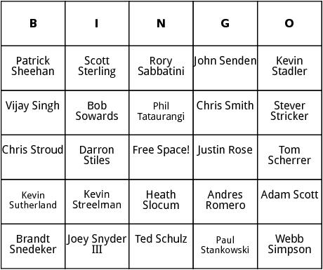 pga tour 10 bingo