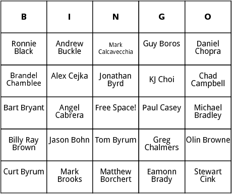 pga tour 2 bingo
