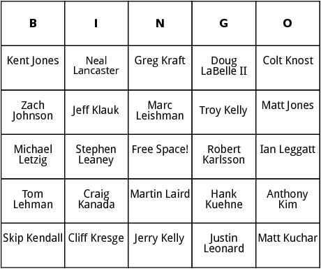 pga tour 6 bingo