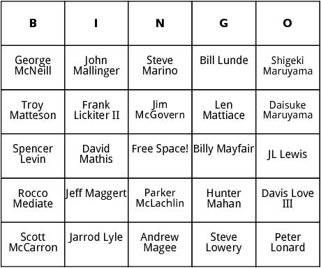 pga tour 7 bingo
