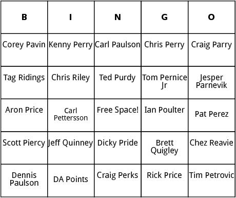 pga tour 9 bingo