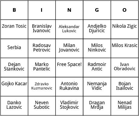 serbian world cup players bingo