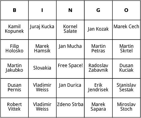 slovakian world cup players bingo