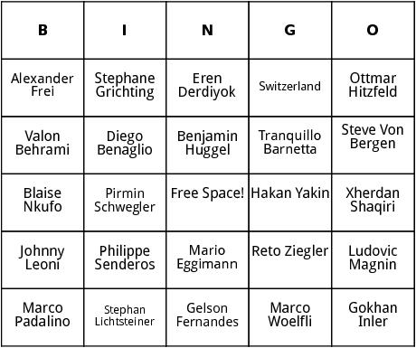 swiss world cup players bingo