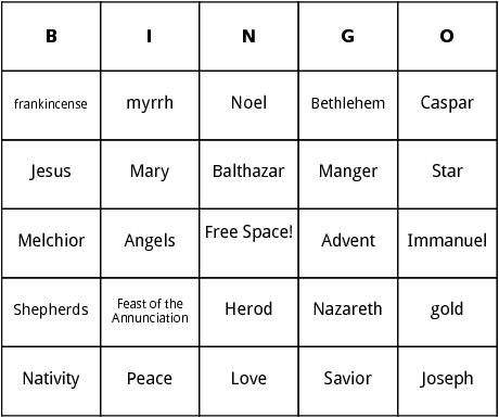 traditional christmas bingo