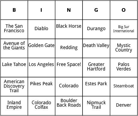 united states marathons 10 bingo