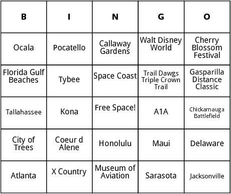 united states marathons 3 bingo