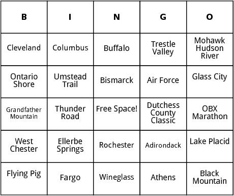 united states marathons 7 bingo