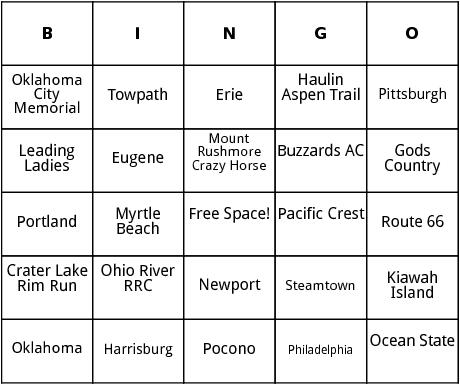 united states marathons 8 bingo