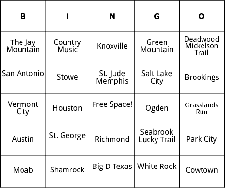 photo regarding Musical Bingo Cards Printable titled United Claims Marathons 9 bingo via Bingo Card Template