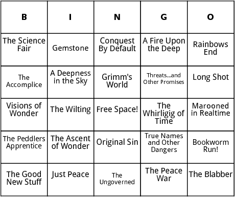 vernor vinge titles and collections bingo