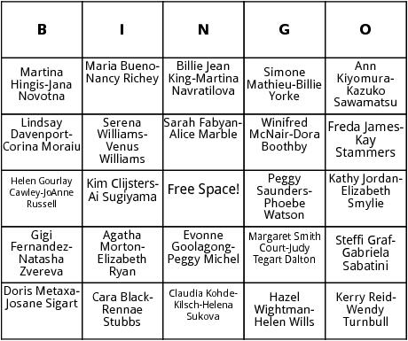 womens doubles wimbledon bingo