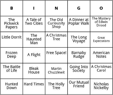 works by charles dickens bingo